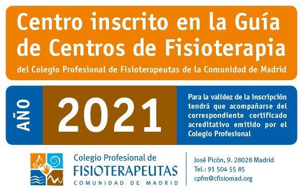 La clínica de fisioterapia deportiva en alcala de henares está registrada en el censo del Colegio Oficial de Fisioterapeutas de la Comunidad de Madrid